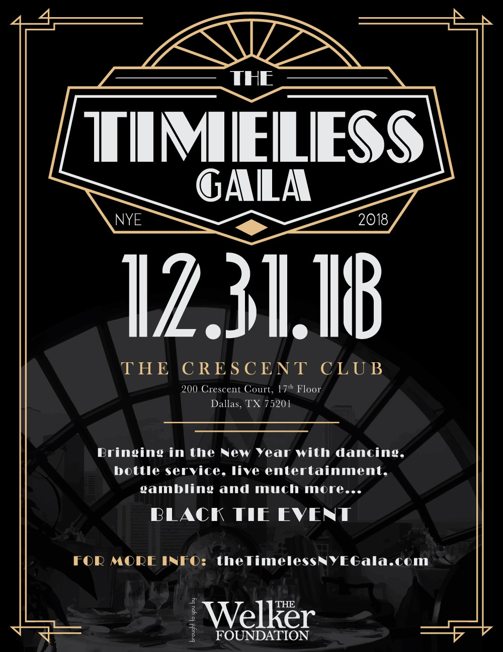 The Timeless NYE Gala 2018